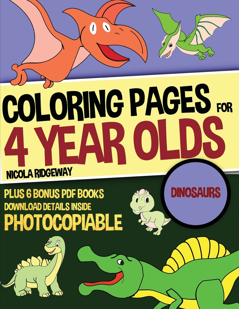 Coloring Pages For 4 Year Olds (Dinosaurs)